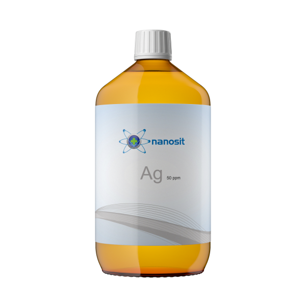1000 ml nanosit argento colloidale, 50 ppm