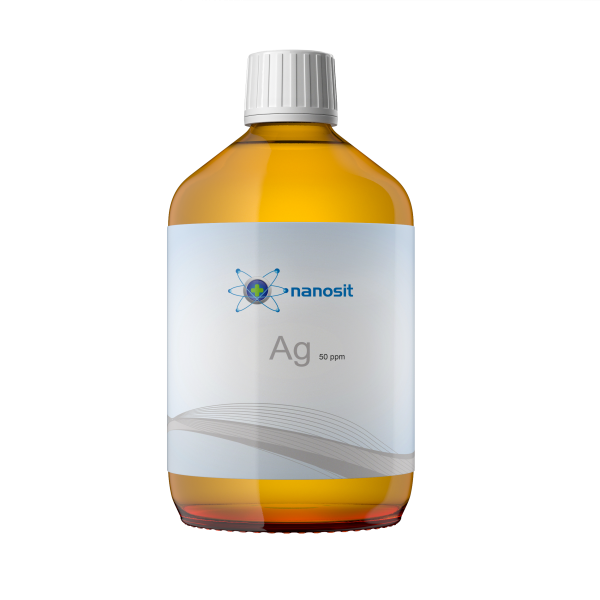 500 ml nanosit argento colloidale, 50 ppm