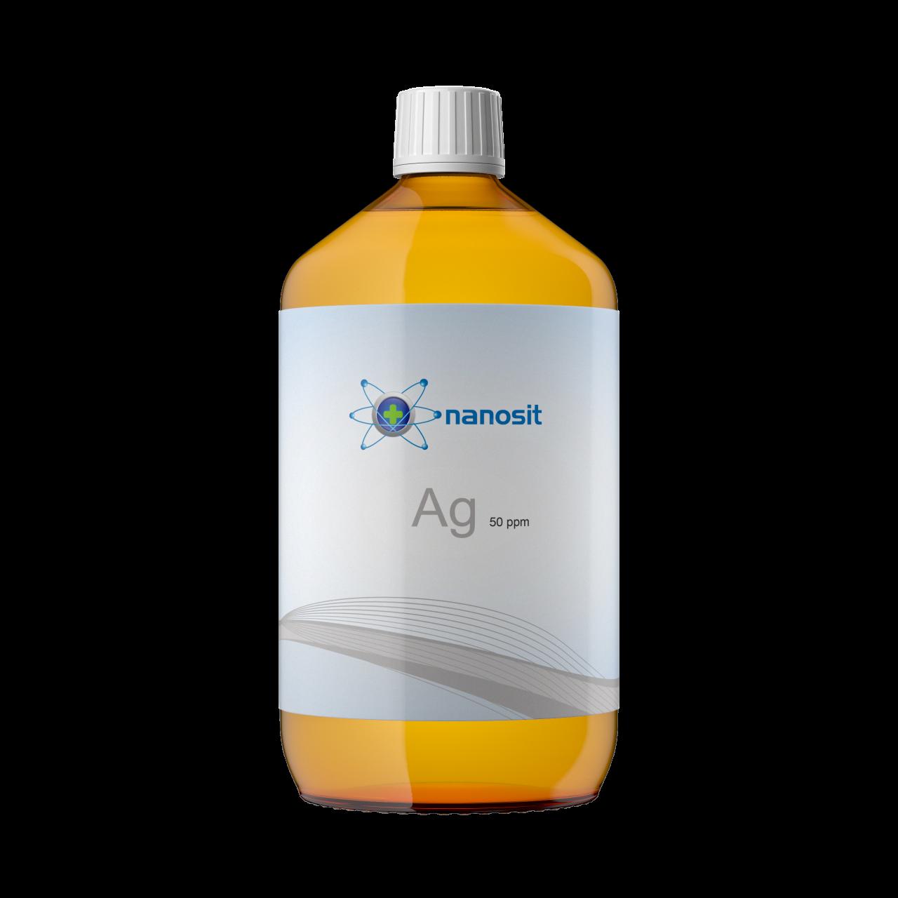 1000 ml nanosit kolloidales Silber, 50 ppm