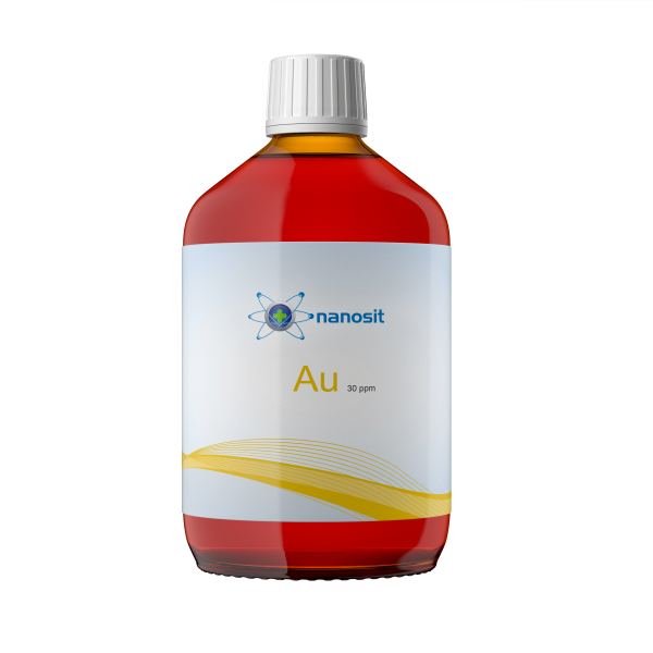 500 ml nanosit kolloidales Gold, 30 ppm
