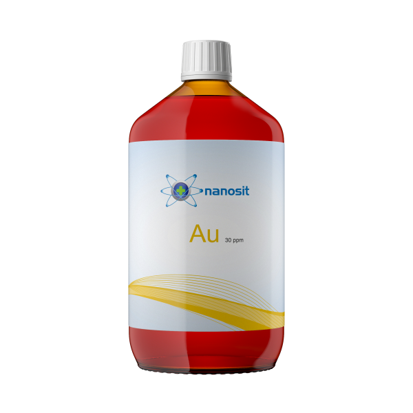 1000 ml nanosit colloïdaal goud, 30 ppm